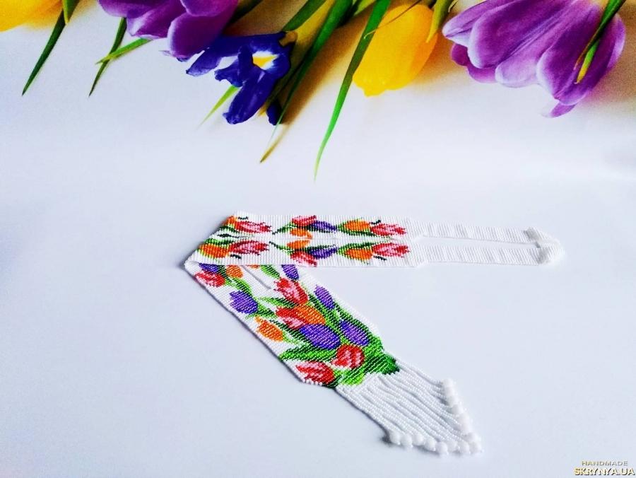 тут изображено Гердан тюльны Очень приятный подарок Белоснежный цветочный гердан